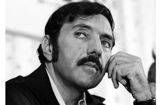 """The Exorcist"" author William Peter Blatty at a news conference in Tokyo in 1974."