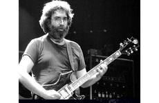 Jerry Garcia plays during the Grateful Dead's European tour stop at the Walter Koebel Halle, in Ruesselsheim, Germany, Oct. 1981